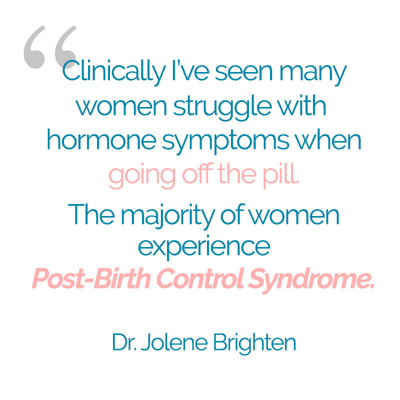 Post-Birth Control Syndrome | Dr. Jolene Brighten | DrBrighten.com